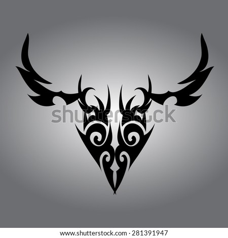 tattoo designs isolated on gray background.