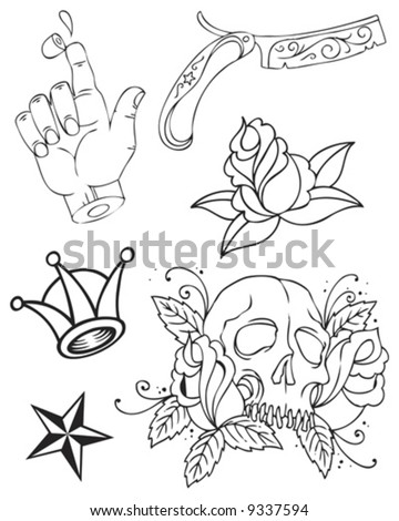 tattoo group - stock vector