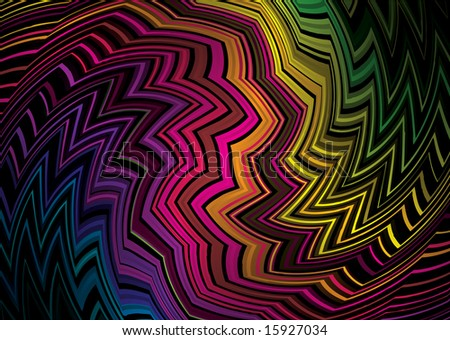 Tattoo inspired rainbow background that would make an ideal desktop - stock vector