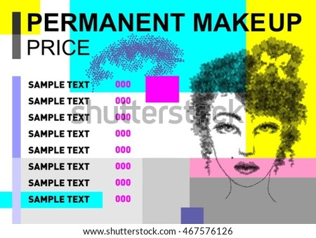 sample of painting designs tattoo permanent makeup price dotted painting stock vector
