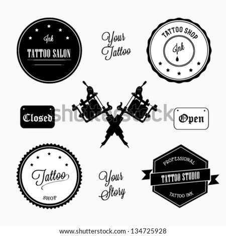 Tattoo shop - stock vector
