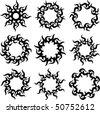 Tattoo Sun - stock vector