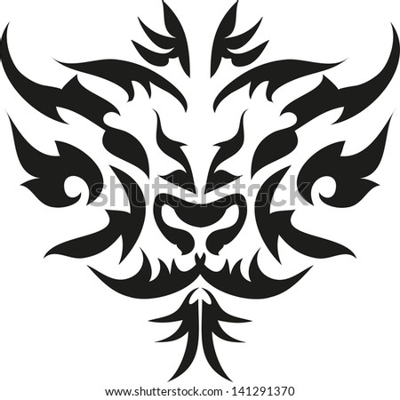 tattoo tiger. - stock vector