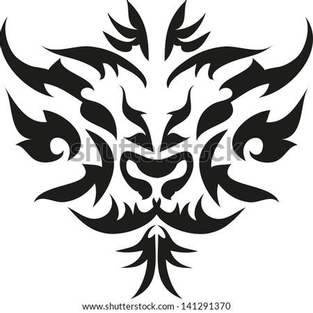 tattoo tiger. - stock vector