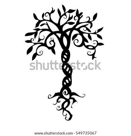 tree tattoo stock images royalty free images vectors shutterstock. Black Bedroom Furniture Sets. Home Design Ideas
