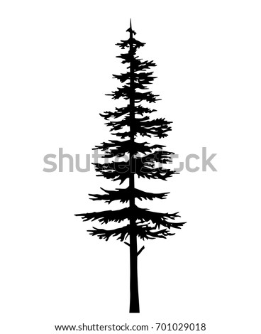 Pine Tree Silhouette Stock Images, Royalty-Free Images ...