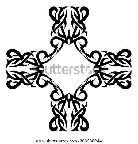 round celtic ornament intertwined pattern illustration stock vector 165156353 shutterstock. Black Bedroom Furniture Sets. Home Design Ideas