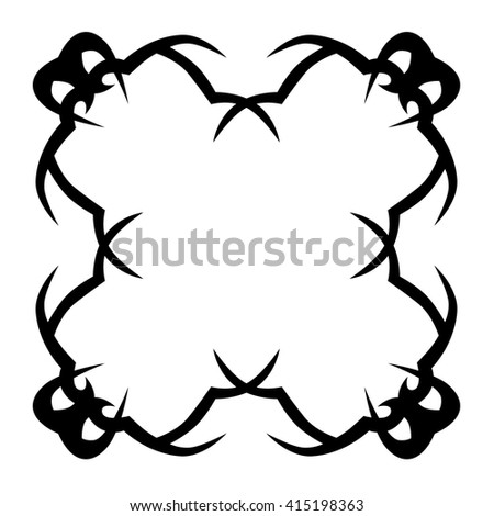 simple frame tattoo. Delighful Simple Tattoo Tribal Vector Design Sketch Frame Black Pattern Simple Logo  Designer Isolated Abstract Intended N