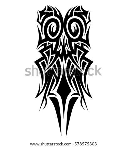 tattoo tribal vector design sketch single stock vector 578575303 shutterstock. Black Bedroom Furniture Sets. Home Design Ideas