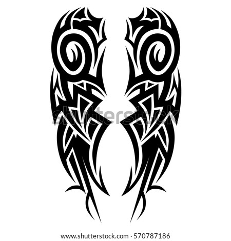 TATTOO Tribal Vector Designs. Manu0027s Abstract Isolated Pattern On The Arm  And Sleeve Design.