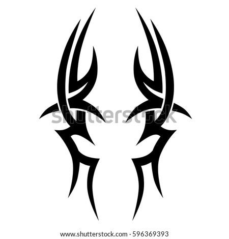 tattoo tribal vector designs sketch simple stock vector 596369393 shutterstock. Black Bedroom Furniture Sets. Home Design Ideas