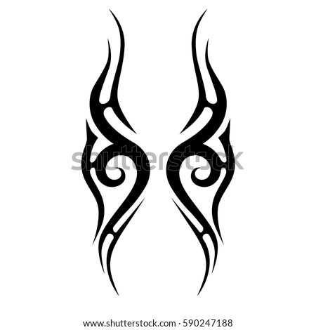 flame tribal tattoo stock images royalty free images vectors shutterstock. Black Bedroom Furniture Sets. Home Design Ideas