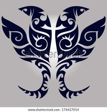 Tattoos Demon,Giants.vector - stock vector