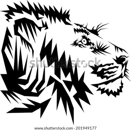 Tattoos lions.vector