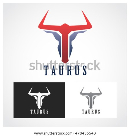 Taurus Symbol Suitable Professional Design Use Stock Vector