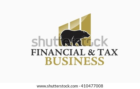 Tax and Financial Logo - stock vector