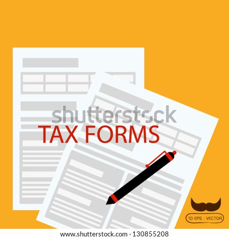 Tax forms - stock vector