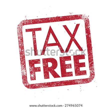 Tax Free ink stamp - stock vector