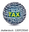tax icon over white background. vector illustration - stock vector