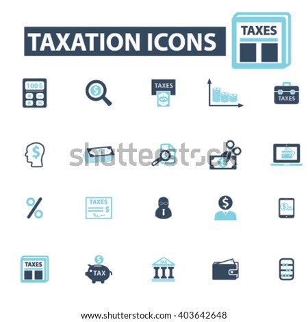 tax icons  - stock vector