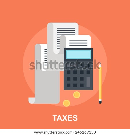Tax Payment - stock vector