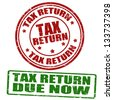 Tax return grunge rubber stamps, vector illustration - stock photo