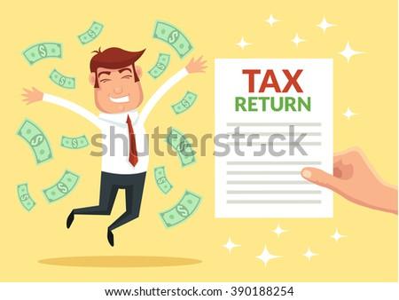 Tax return. Vector flat illustration - stock vector