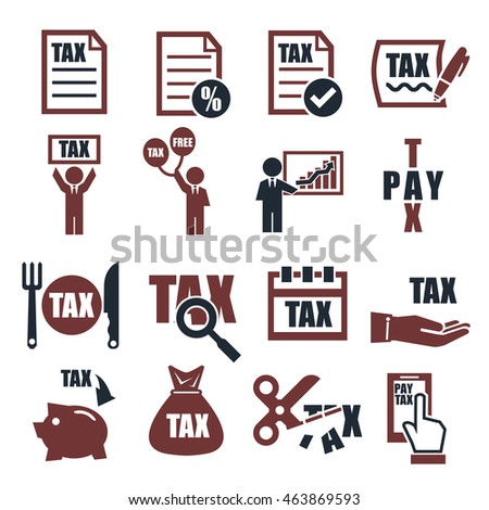 tax, tariff icon set