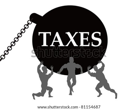 taxes burden - stock vector
