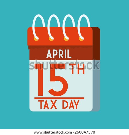 Taxes design over blue background, vector illustration. - stock vector