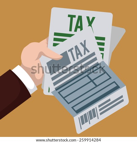 Taxes design over brown background, vector illustration. - stock vector