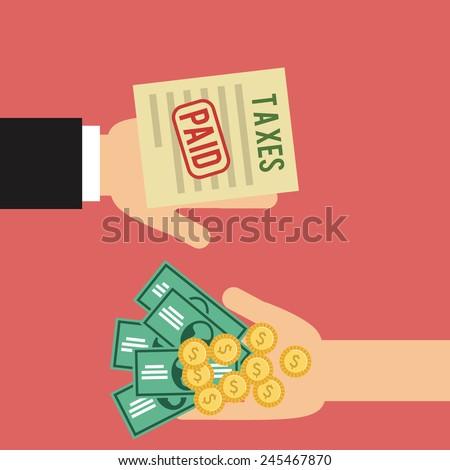 taxes icon design, vector illustration eps10 graphic  - stock vector