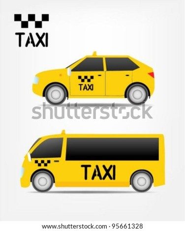Taxi and transportation service icon - stock vector