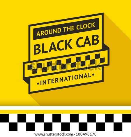 Taxi badge 03, vector illustration 10eps