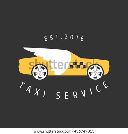 Taxi Cab Vector Logo Icon Car Stock Vector 436749013 Shutterstock