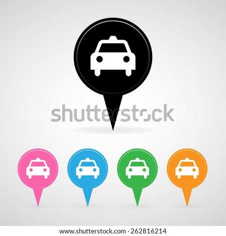 taxi check in icon great for any use. Vector EPS10. - stock vector