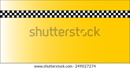 Taxi Checkerboard Pattern of Old New York Yellow Cabs - Pattern tile of yellow and black and white colors - stock vector