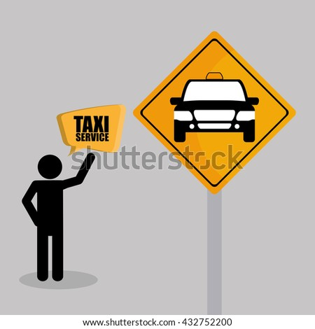 Taxi design. Transportation icon. Isolated illustration