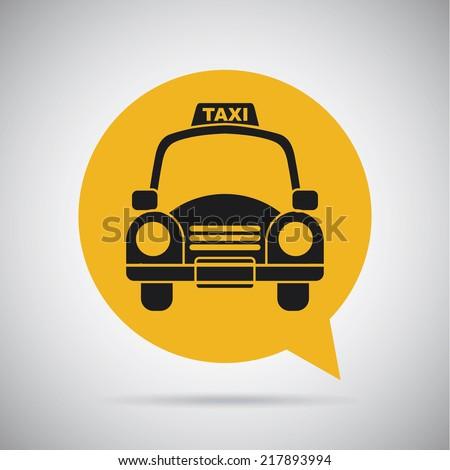 taxi icon design , vector illustration - stock vector