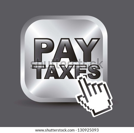 taxi icon over gray background. vector illustration