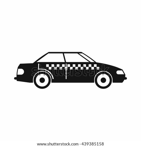 Taxi icon, simple style