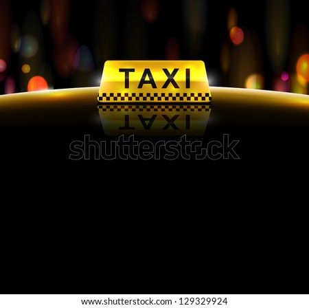 Taxi service, background. Eps 10 - stock vector