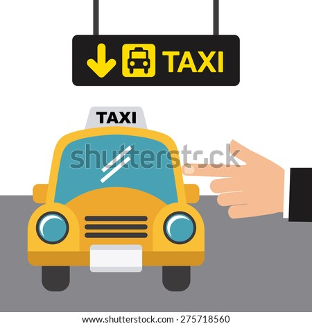 taxi stop design, vector illustration eps10 graphic  - stock vector
