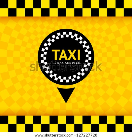 Taxi symbol, new background, vector illustration 10eps - stock vector