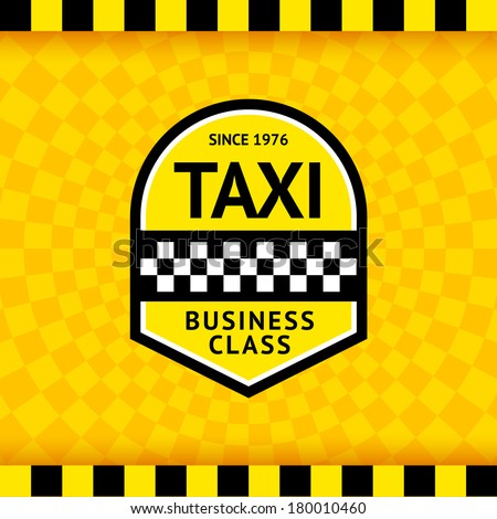 Taxi symbol with checkered background - 23, vector illustration 10eps - stock vector
