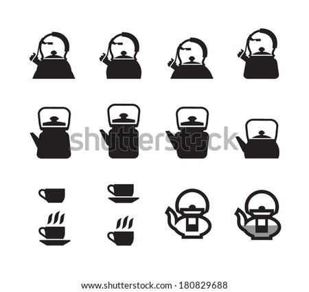 tea and coffee - stock vector
