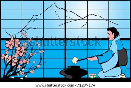Tea ceremony - stock vector
