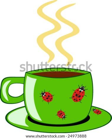 Tea cup - stock vector