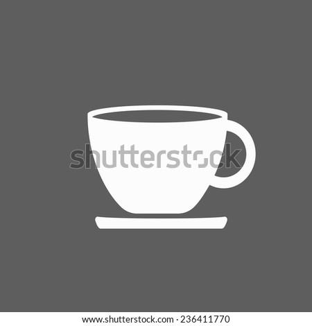 tea cup icon - stock vector