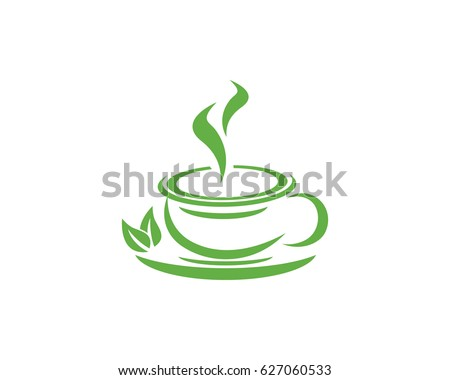 Tea Cup Logo Template Stock Vector HD (Royalty Free) 627060533 ...